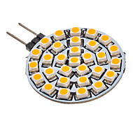2W G4 / GU4(MR11) LED Spotlight 30 SMD 3528 90-110 lm Warm White AC 12 V