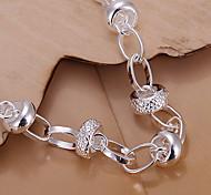 Verfolgung Silber Herz Armband