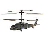 SYMA S102G 3.5 kanaals infrarood afstandsbediening Mini Helicopter met Gyro (Army Green, 6xAA)