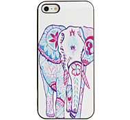 All Dressed up Elephant Pattern PC Hard Case with Black Frame for iPhone 5/5S