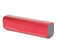 2600mAh портативный банк силы для Samsung Micro USB для устройства Mobile (красный)