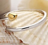 Z&X®  Heart shaped opening plating gold ring