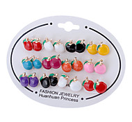 Apple Ear Stud Earrings (Random Color)