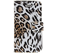 Leopard Print PU Full Body Case with Card Slot and Stand for iPhone 4/4S (Assorted Colors)