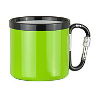 300ML Camping Cup with Carabiner Hook(Assorted Colors)