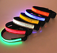 Dog Collar LED Lights / Safety Red / White / Green / Blue / Pink / Yellow / Orange Nylon / Plastic