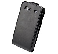 elegante ultradunne pu lederen flip case cover voor Samsung Galaxy S i9070-zwart