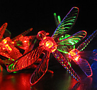 Solar Jardín Luces 30 Multi coloridas luces LED Dragonfly