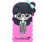 Joyland Hosenträger Hosen Mädchen Silicon Tasche für iPhone 4/4S (Farbe sortiert)