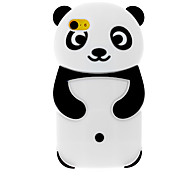 3D Panda Designed Silicone Soft Case for iPhone 5C