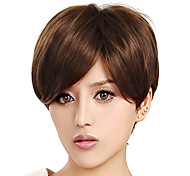 Capless Short High Quality Synthetic Light Brown Wig