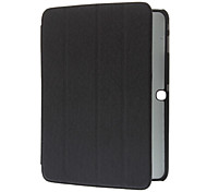 Silk Stripe PU Leather Protective Pouches with Triple-Folded Stand for Samsung Galaxy Tab 3 10.1 P5200