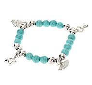 Vintage Bohemian Style Turquoise Owl Star Key Bracelet