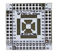 New QFN / QFP / TQFP / LQFP 16-80 to DIP Adapter Double-Side Board Module for (For Arduino)