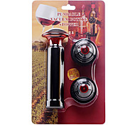 Crimson Wine Vacuum Bottle Plastic Stoppers + Pump