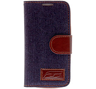 For Samsung Galaxy Case Card Holder / with Stand / Flip Case Full Body Case Solid Color PU Leather Samsung S4 Mini