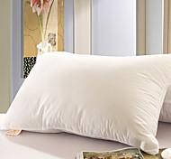 100% coton blanc solide oreiller