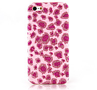 Pink Leopard Print Textile Cloth Art Back Case for iPhone 12C