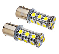 2 PC 1156 2W 18x5050SMD 100-150LM 6000K Cool White LED Light Bulb (12V)