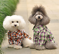 Прекрасный Повседневная рубашка Проверки для собак Домашние животные (разные цвета, размеры)