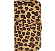 Yellow Leopard Print Pattern PU Leather Protective Pouches for Samsung Galaxy S3 I9300