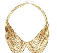 (1 pc) de ouro da moda colar da liga colar (de ouro)