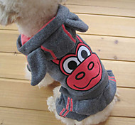 Lovely Strong Cow Cosplay Warm Suit with Hoodies for Pets Dogs (Assorted Colors,Sizes)