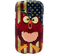 Vintage US Flag Owls Glossy TPU Soft Cover Case for Samsung Galaxy S3 Mini I8190