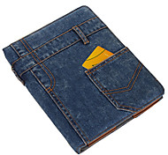 Denim design de material com Stand Case para iPad2/3/4