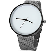 Women's Simple Design Dial Silver Alloy Band Quartz Analog Wrist Watch (Assorted Colors)