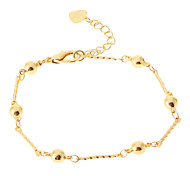 Beads Chain Golden-Plated Bracelet