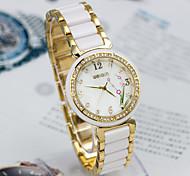 Frauen im Alloy Quarz Analog Armbanduhr