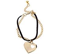 (1 pz) Multicolor lega di fascino del braccialetto di cuoio delle donne di modo
