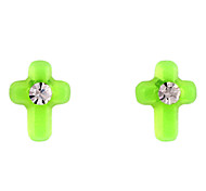 Sweet Green Acrylic Ear Piercing(Green) (1 Pair)