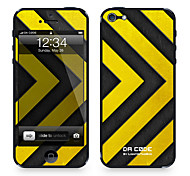 """Da Code ™ Skin for iPhone 4/4S: """"Yellow and Steel Chevron"""" (Abstract Series)"""