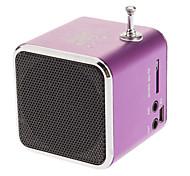 Portable Drives 45mm Unidad USB y Micro SD / TF del metal Altavoz estéreo con función de radio FM para el iPhone y otros (varios colores)