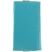 Simple and Quality PU Blue Pouches with Card Slot and Strap for iPhone 4/4S/5/5S and Others