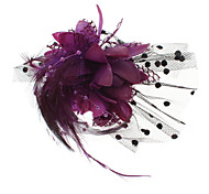 (1 Pc)Fashion Women's Purple Feather Brooch
