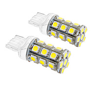 T20 5W 24x5060SMD 450LM 5500-6500K frío bombilla de luz blanca de LED para coche (12V, 2 unidades)