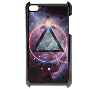 Shimmering Magical Black Triangle Pattern Hard Case for iPod touch 4