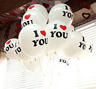 "12"" Cute and Sweet I Love You Balloon Set of 30"