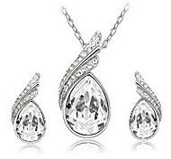 European  Crystal (Earrings&Necklaces) Crystal Jewelry Sets