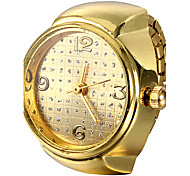 Women's Round Case Gold Alloy Quartz Ring Watch Cool Watches Unique Watches Fashion Watch