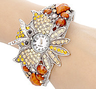 Women's Crystal Owl Style Alloy Quartz Bracelet Watch