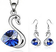 Goose Crystal Earrings & Necklace Jewelry Set