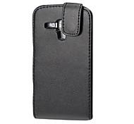 Black Elegant PU Leather Full Body Flip Case Cover for Samsung Trend Dous S7562