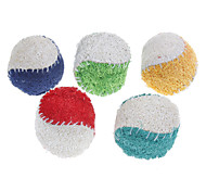 Dog Toy Pet Toys Ball Teeth Cleaning Toy Loofahs & Sponges Tennis Ball Textile