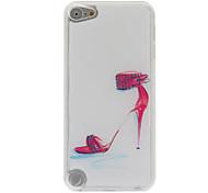 patrón estuche rígido elegante zapatos de tacón alto de epoxy para el iPod touch 5