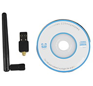 AYA-802B USB 2.0 2.4GHz 802.11b/g/n 150Mbps Wi-Fi / WLAN Wireless Network Adapter - Black
