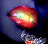 Novidade 2 ª Geração Multi-color LED piscando dentes falsos Party Brinquedos